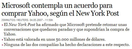 Microsft y Yahoo