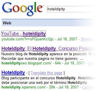 Hoteldipity En Google