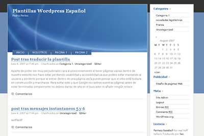 Plantillas / temas wordpress en Español