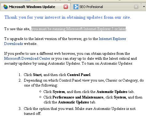 Windows no acepta actualizaciones con Firefox