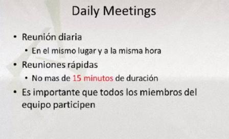 reuniones diarias